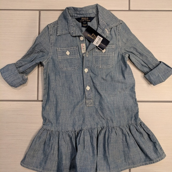 7d881a8476 Girls 3T RALPH LAUREN denim dress